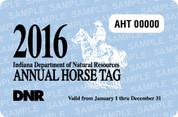 2016 Annual Horse Tag (permit)