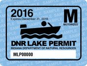 2016 Motorized Lake Permit