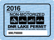2016 Non-Motorized Lake Permit