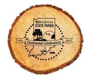 Centennial Wood Slice magnet