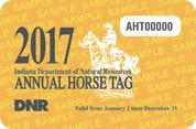 2017 Annual Horse Tag (permit)