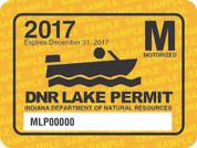 2017 Motorized Lake Permit