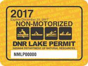 2017 Non-Motorized Lake Permit