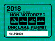 2018 Non-Motorized Lake Permit