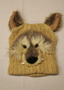 Kids Winter Hat- Tan Wolf*