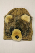 Kids Winter Hat- Tan Bear*