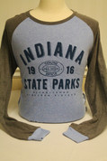 Sky Blue and Grey Indiana State Park Long Sleeve Shirt*