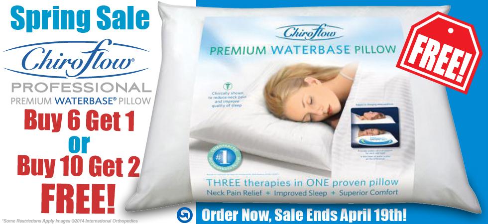 ChiroFlow Waterbase Pillow Spring Sale from International Orthopedics