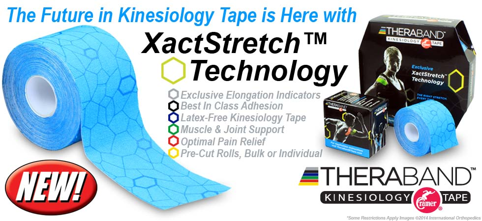 TheraBand Kinesiology Tape with XactStretch Technology