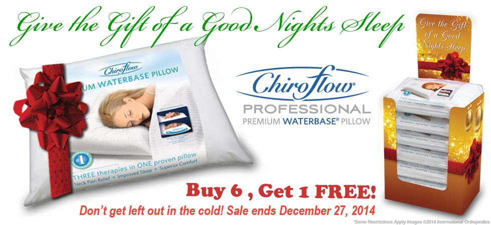 Chiroflow Holiday Promotion Buy 6 Get 1 Free and a Free Holiday Display!