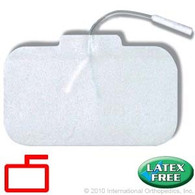 "Classic Stimulating Electrodes with Comfort Foam Construction, 4"" x 2.25"" Rectangle"