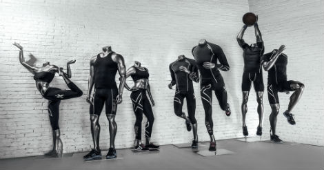 Silver Headless Sports Mannequins