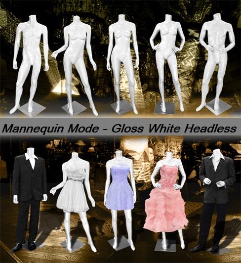 Gloss White Headless Mannequins