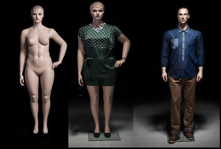Realistic Plus Size Mannequins