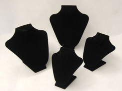 Necklace Stand Black Velvet (JW-VE-N1 + N2 + N3 + N4)