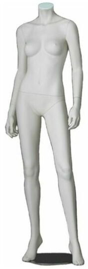 One Day Rental -- Matte White Headless Female Mannequin MM-A3BW2R