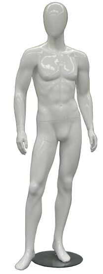 One Day Rental -- Gloss White Abstract Male Mannequin MM-GM53W1R