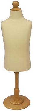 One Day Rental --  Cream Jersey Knit Child Foam Dress Form size 6 month with Base and Top JF-C06MR