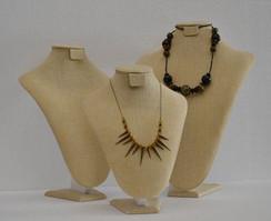Classic 3 Linen Necklace Stands JW-LN-A5 + A4 + A3