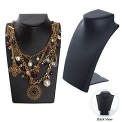 Black Leatherette Necklace Display Bust MM-ND-8BK