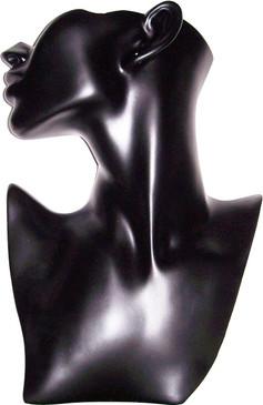Black Lady Half Display Head Bust JWSR-B2BK