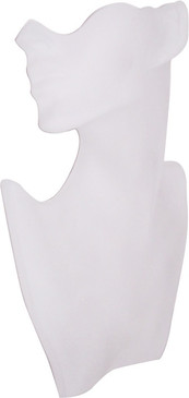 White Lady Half Display Head Bust JWSR-B2WH