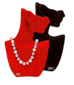 Velvet Jewelry Display Half Heads MM-PH17-1F