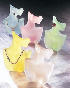 Acrylic Jewelry Display Half Heads MM-PB17