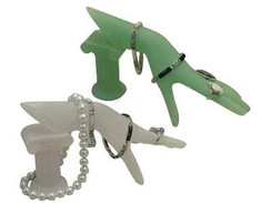 2 PCS Sand Glass Display Hand with Rome Stand MM-JW-B5WH+B5GR