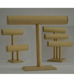Group of 3 Bracelet Display Bars Linen MM-JW-LN-1BAR+JW-LN-2BARSJW-LN-3BARS
