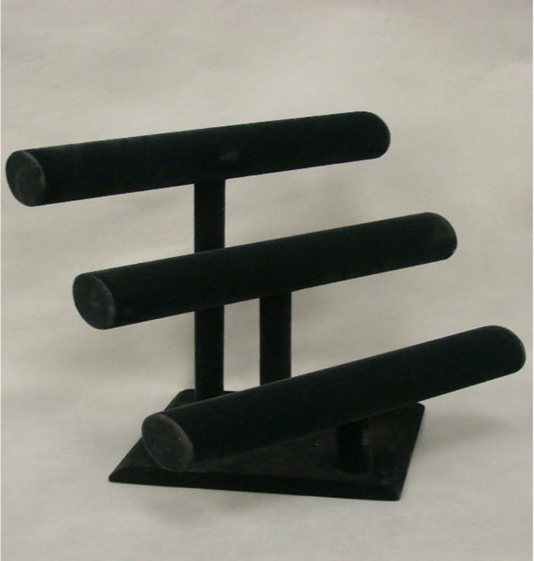 Bracelet Display 3 Bars Black Velvet MM-JW-VE-3BARS