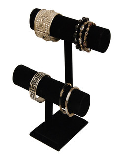 Bracelet Display 2 Bars Black Velvet MM-JW-VE-2BARS