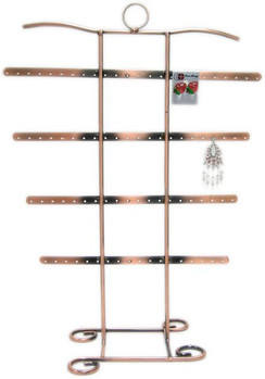 4 Tier Antiqued Copper Tone 42 Pair Earring & Bracelet/Necklace Stand MM-DS-146