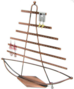 Nautical Theme, Ship in Sail Jewelry Display/Organizer MM-DS-150