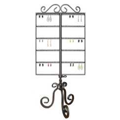2 Way Revolving Metal Earring Display Rack MM-913CB