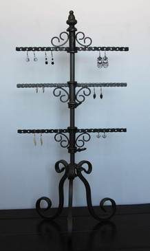 3 Tiers Revolving Metal Earring Display Rack MM-913CA