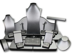 Set of 23 Assorted Jewelry Displays : [Steel Grey] MM-ASET65GF