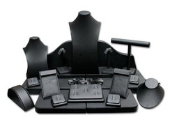 Set of 23 Assorted Jewelry Displays : [Black Leatherette] MM-ASET65BK