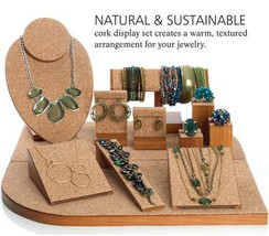 Set of 12 Assorted Jewelry Displays : [Natural Cork] MM-NWC