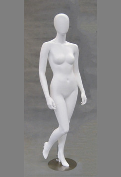 Gigi, Matte White Abstract Egg Head Female Mannequin MM-GS6W2