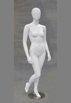 Gigi, Matte White Abstract Egg Head Female Mannequin MM-GS6W2
