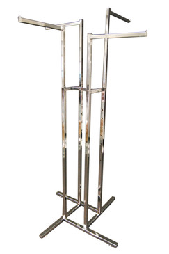 4 Way Display Clothing Rack - Straight Arms MM-RK-R13