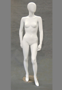 Gabrielle, Matte White Abstract Egg Head Female Mannequin MM-GS8W2