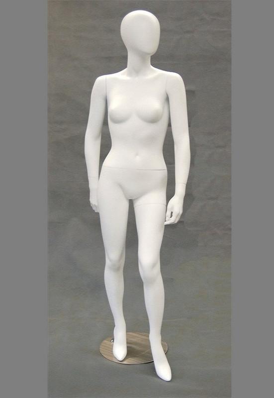 Gabrielle, Matte White Abstract Egg Head Female Mannequin MM-GS8W2