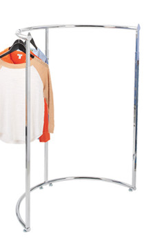 Half Round Display Clothing Rack - Chrome MM-K62
