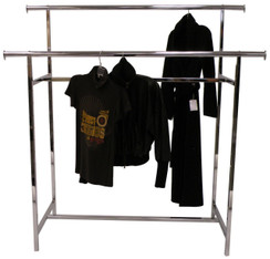 Chrome Double Bar Clothing Rack MM-RK-K60