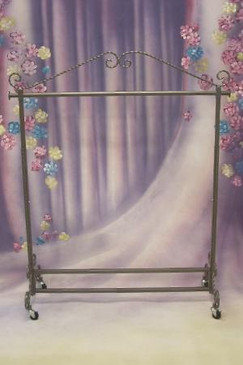 Dark Gray Boutique Salesman Rolling Rack - Single Rail MM-RK02C1