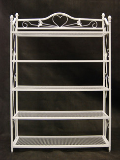 White Boutique Rack with 5 Metal Display Shelves MM-TYWH088