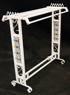 White Boutique Clothing Rack MM-TYWH082