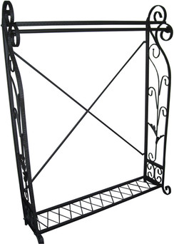 Contemporary Raw Steel Finish Rack MM-TYSK09C